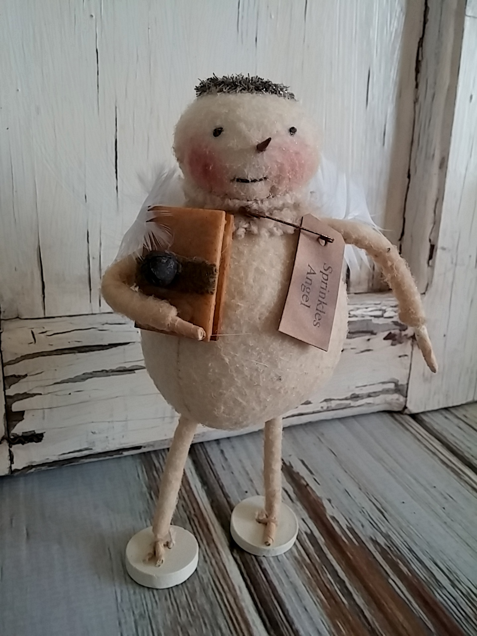 Primitive Country Snowman Angel