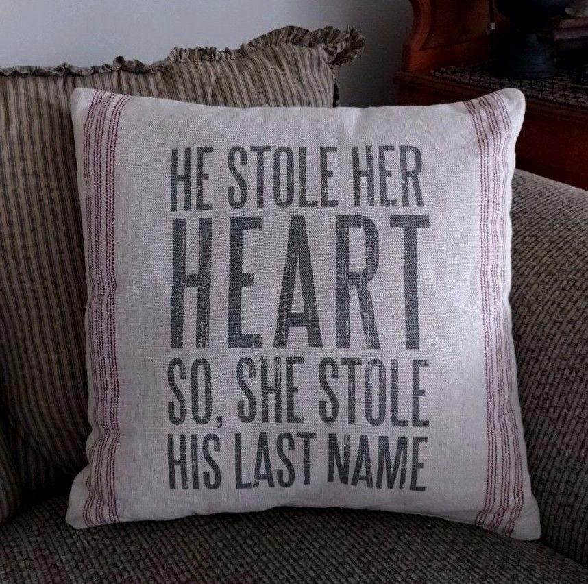 Rustic Farmhouse Stole Her Heart Home Decor Accent Pillow