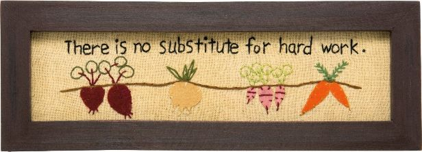 Primitive Country Garden Vegetable Framed Stitchery