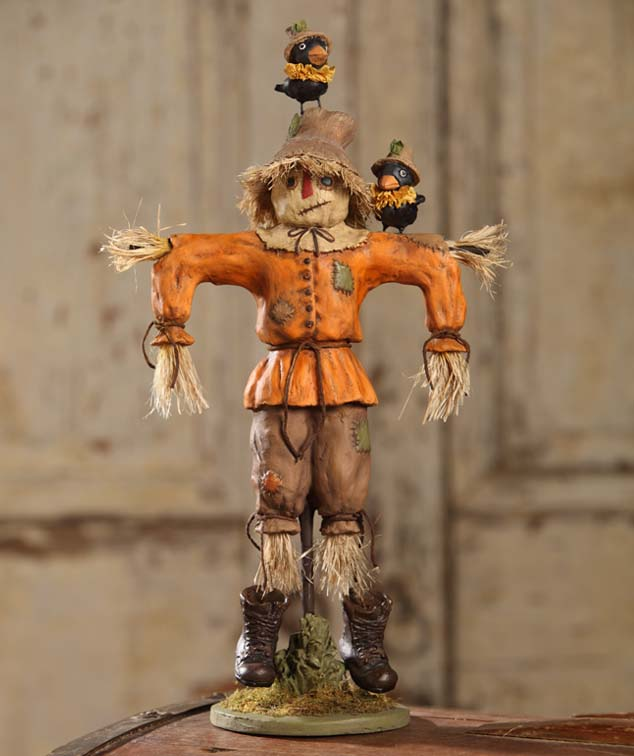 Vintage Inspired Autumn Harvest Scarecrow Figure