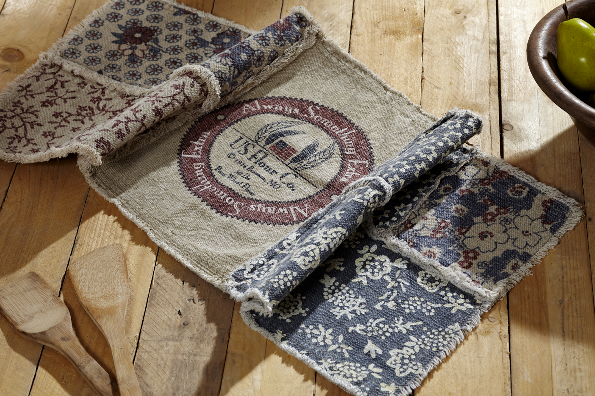 Rustic Country Vintage Advertising Inspired Farmhouse Table Runner