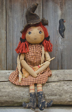 Primitive Country Friendly Witch Home Decor Doll