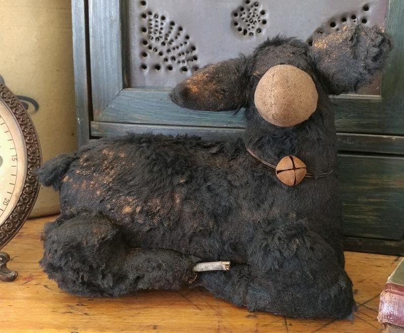 Primitive Handmade Aged Sheep Home Decor Farm Doll - Handmade in USA