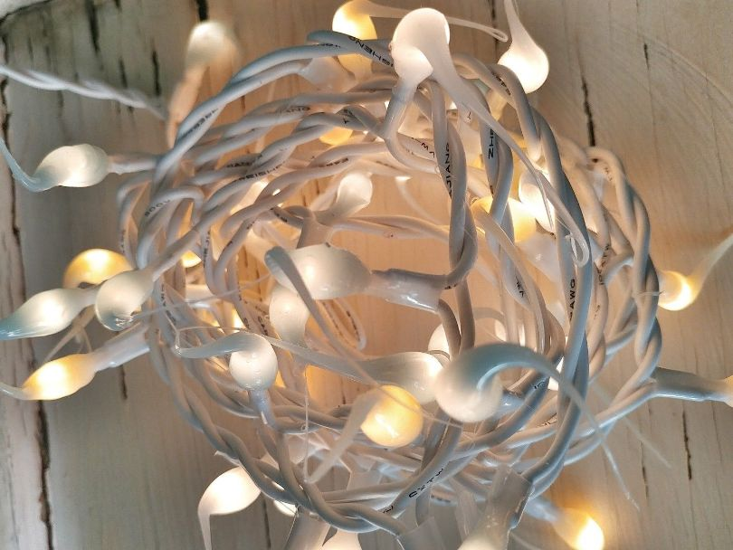 #vntsprng Vintage Spring Mix Cottage Style Hand Dipped Light Strand