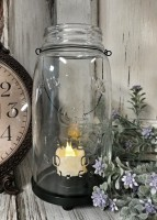 Rustic Farmhouse Mason Jar Votive or Pillar Candle Holder /Lantern