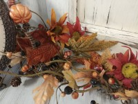 Rustic Autumn Leaves Seasonal Floral Home Decor Garland