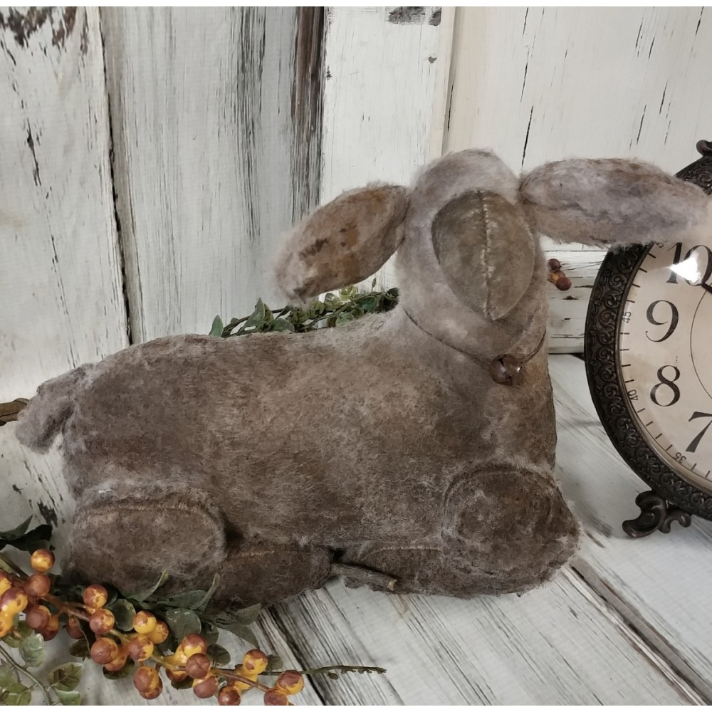 Rustic Handmade Aged White Sheep Home Decor Farm Doll