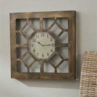 Rustic Metal Gate Wall Clock