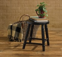 Rustic Farmhouse Farm Stool - Aged Black