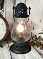 Rustic Black Onion Lamp Electric Lantern