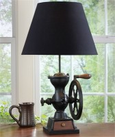 Vintage Inspired Coffee Grinder Lamp with Shade