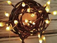 Mustard Hand Dipped Light Strand - Rustic String Lights