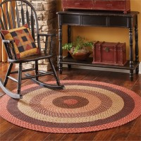 Lancaster Round Country Braided Area Rug