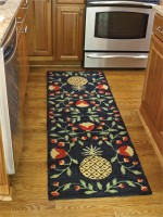 Pineapple Hooked Rug Floor Runner