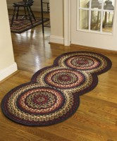 Folk Art Cotton Braided Circle Rug Runner