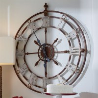 Rustic Nautical Inspired Weathered Metal Wall Clock