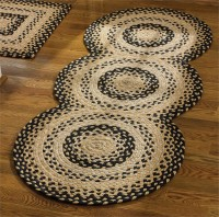 Country Cotton Braided Circle Rug Runner - Cornbread Pattern