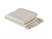 Farmhouse Ticking Cotton Knit Throw