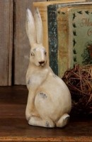 Country Cottage Vintage Style Sitting Rabbit Terra Cotta Bunny Figure