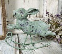 Vintage Inspired Rocking Bunny Figurine