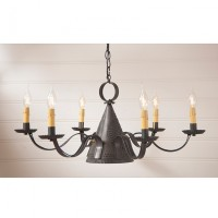 Madison Punched Tin Primitive Chandelier