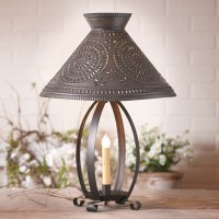 Betsy Ross Lamp with Chisel Shade in Kettle Black