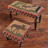 Rustic Lodge Style Moose Stool or Bench