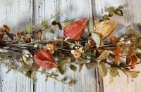 Autumn Neutral Warm Tone Pods and Mini Pumpkin Fall Garland