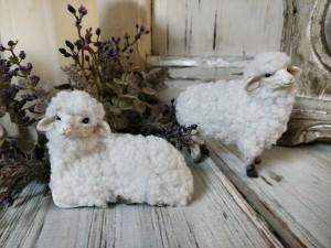 Vintage Inspired Mini Sheep Figurines