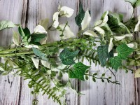 Mixed Green Foliage Garland - Farmhouse Cottage Home Decor