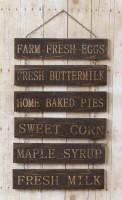 Primitive Country Multipanel Chain Farm Sign - Rustic Home Decor