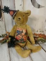 Vintage Inspired Halloween Teddy Bear Home Decor Doll