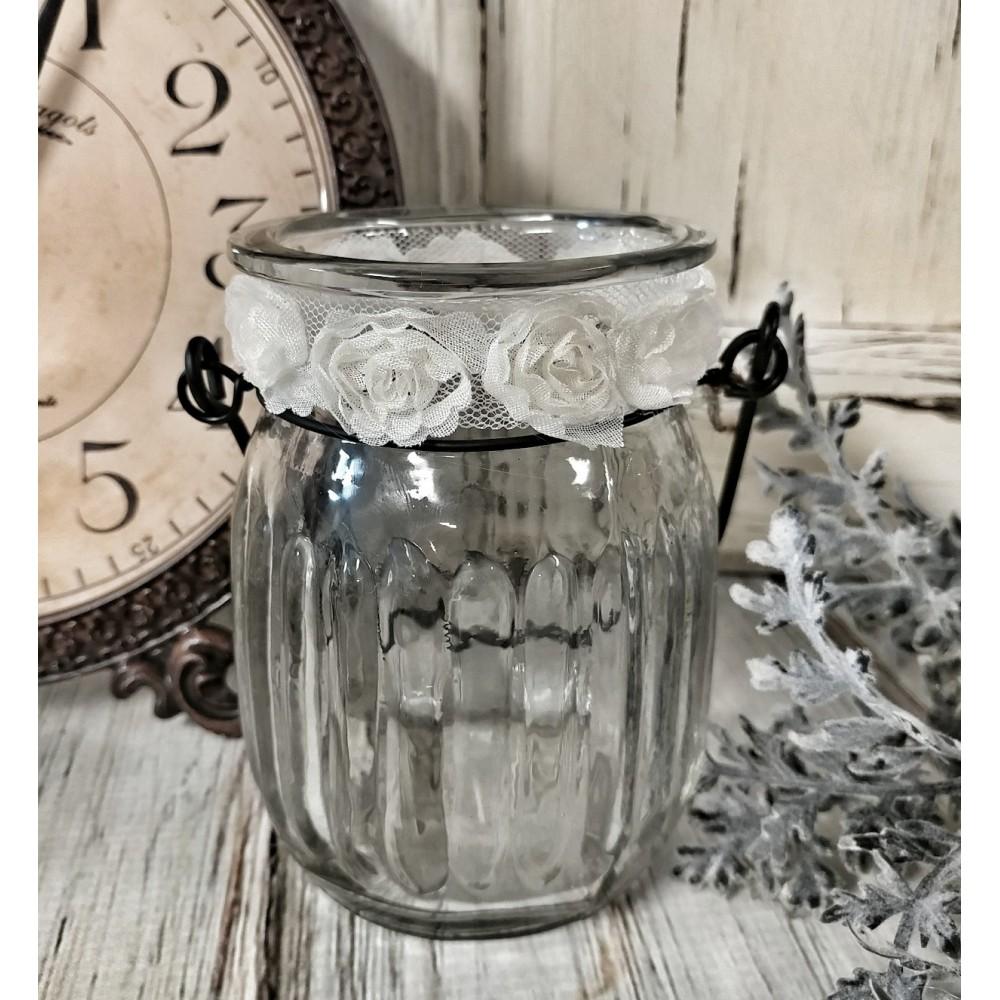 Farmhouse Glass Jar Votive or Pillar Candle Holder ...