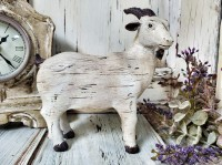 Rustic Ol' Goat Figure - Antique Farmhouse Farm Animal Decor