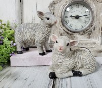 Little Rustic Sheep Set of 2 ~ Antique Farmhouse Vintage Inspired Decor