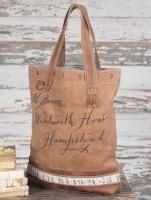 Rustic Vintage Inspired Mr. Brown Women's Tote / Handbag