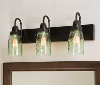 Mason Jar Vanity Bathroom Light Fixture