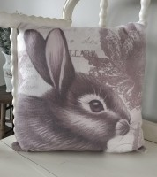 Vintage Farmhouse Large Bunny Pillow - Easter / Spring Home Accent