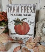 Farm Fresh Pumpkin Patch Autumn Farmhouse Box Sign
