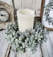 Pebble Eucalyptus Greenery Candle Ring