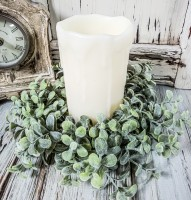Pebble Eucalyptus Farmhouse Candle Ring