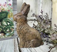 "Chocolate Bunny 5"" Resin Easter / Spring Figurine"