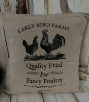 Farmhouse Rooster Pillow Cover