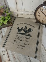 Rustic Farmhouse Chicken & Rooster Table Runner