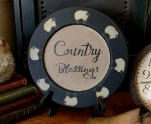 Country Blessings Sheep Home Decor Wooden Decorative Plate
