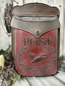 Distressed Red Rustic Home Decor Post Box