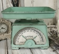 Vintage Inspired Turquoise Scale Calendar