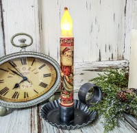 Santa with Toys Handmade Timer Taper Candle