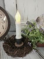 Rustic Cottage Birds Nest Taper Candle Holder