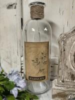 Parsley Glass Decorative Bottle - Cottage Farmhouse Home Decor